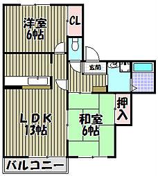 コートロッジパートI[2階]の間取り