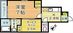 ポルタコスタ B棟[1階]の間取り