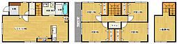 [一戸建] 広島県広島市南区東雲本町2丁目 の賃貸【広島県 / 広島市南区】の間取り