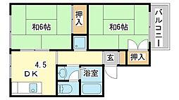 ハイネス北平野[C101号室]の間取り