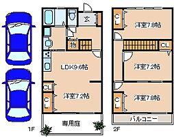 [テラスハウス] 兵庫県三木市緑が丘町西3 の賃貸【/】の間取り