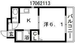 カーサフロムファースト[1階]の間取り
