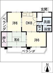 トヨダマンション[4階]の間取り