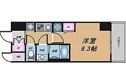 JR東海道・山陽本線 新大阪駅 徒歩5分の賃貸マンション 6階1Kの間取り