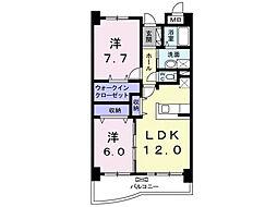 木村ロイヤルマンション4[302号室]の間取り