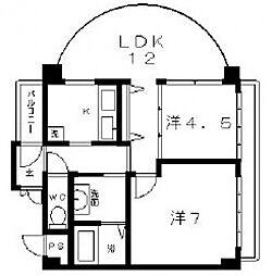 アークエスト[6階]の間取り