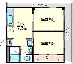 第一道山マンション[5階]の間取り
