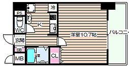 ラフォーレ東天満[4階]の間取り