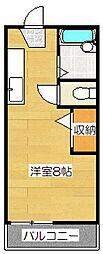 パレットビンテージ[203号室]の間取り