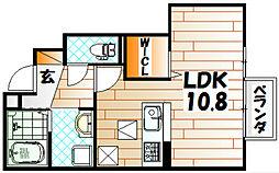 D-room白銀[1階]の間取り