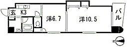 パステロ アロッジオ45東蟹屋[3階]の間取り