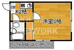 りぶ京都北山[203号室号室]の間取り