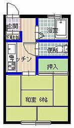 箱田アパート[101号室]の間取り