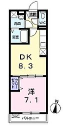 東京都練馬区大泉町1丁目の賃貸アパートの間取り