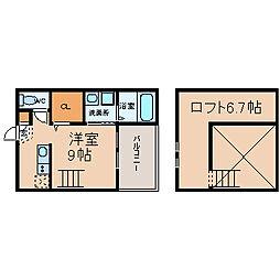 愛知県名古屋市南区戸部下1丁目の賃貸アパートの間取り