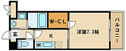 ASプレミアム神戸西[2030号室]の間取り