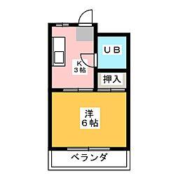 シティハイツ荒田[2階]の間取り