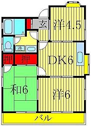 中澤ハウス[1階]の間取り
