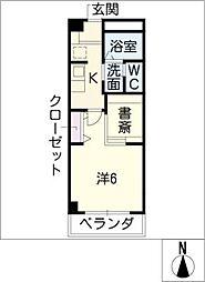 COZY PLACE星ヶ丘[7階]の間取り