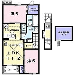 羽生市アパート[202号室]の間取り