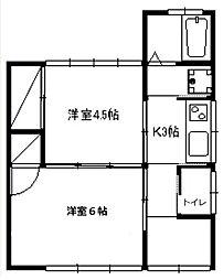 [一戸建] 神奈川県藤沢市大鋸 の賃貸【/】の間取り