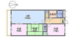 シャルマンコーポ神足[8階]の間取り