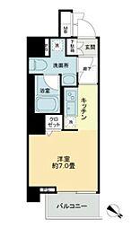KDA SHINAGAWA OSAKI 3階ワンルームの間取り