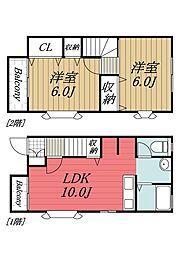 [タウンハウス] 千葉県千葉市若葉区小倉町 の賃貸【/】の間取り
