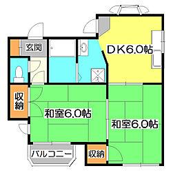 埼玉県新座市新堀3丁目の賃貸アパートの間取り