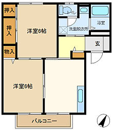 メゾンヨシコーF 101[1階]の間取り