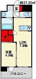 maison do hiro 6階1LDKの間取り