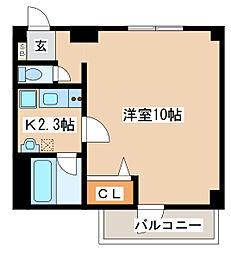 兵庫県神戸市須磨区松風町5丁目の賃貸マンションの間取り
