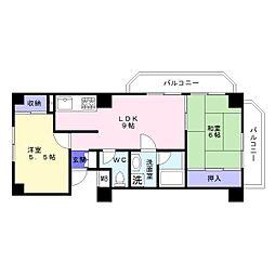 メゾンドミヤモト[3階]の間取り