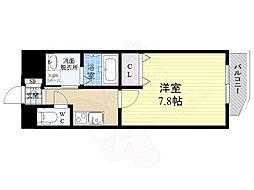 阪神本線 姫島駅 徒歩7分の賃貸マンション 4階1Kの間取り