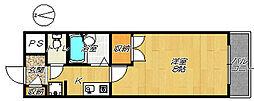 ハイツカワイ[4D号室]の間取り