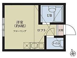 ユナイト藤棚ヴィセンテ・アミーゴ[1階]の間取り