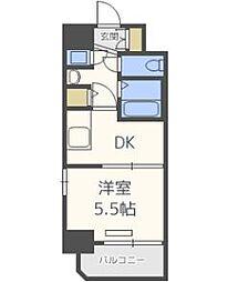 レジュールアッシュ梅田レジデンス[6階]の間取り