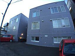 北海道札幌市豊平区平岸三条17の賃貸アパートの外観