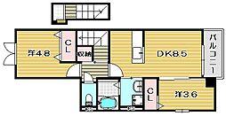 ソレイユ上野[1階]の間取り