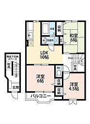 パーク・メゾンM・B[2階]の間取り