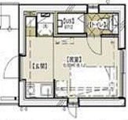 ラウム神楽坂 4階ワンルームの間取り