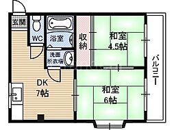 ライフベース稲田本町[2階]の間取り