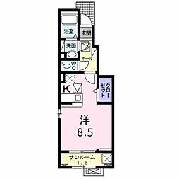 JR東北本線 郡山駅 バス13分 桑野三丁目下車 徒歩7分の賃貸アパート 1階1Kの間取り