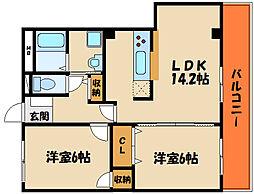 藤江マンション[3階]の間取り