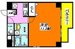 アミティ・タワー505号室[5階]の間取り