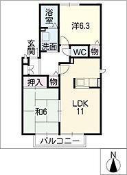 パセオグランシャリオB棟[1階]の間取り