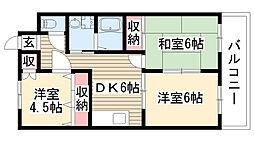 愛知県尾張旭市狩宿町3丁目の賃貸マンションの間取り