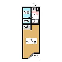 ベルシティ中倉[2階]の間取り