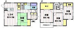 [一戸建] 長野県長野市松岡1丁目 の賃貸【/】の間取り