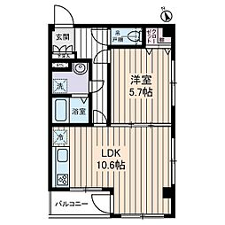 グランステージ東浦和[2階]の間取り